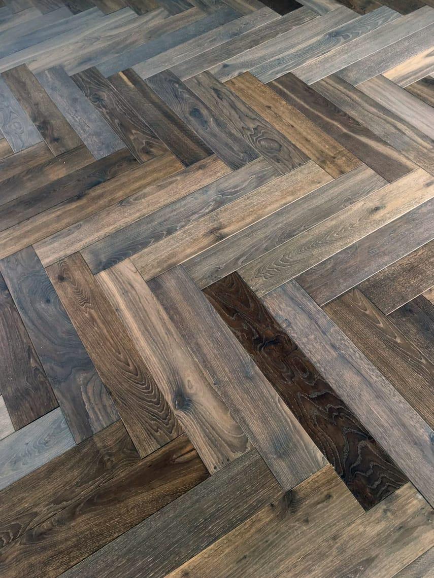 Bespoke Herringbone Cemento Flooring