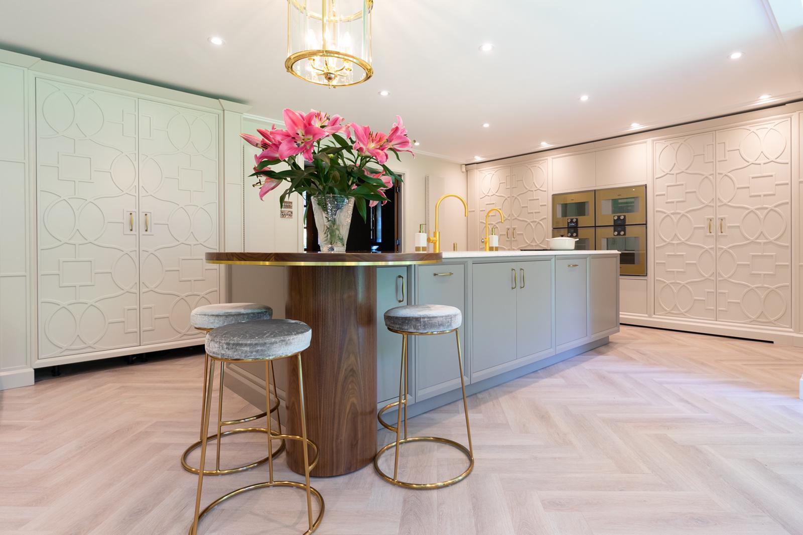 Luxury Vinyl Herringbone Floor