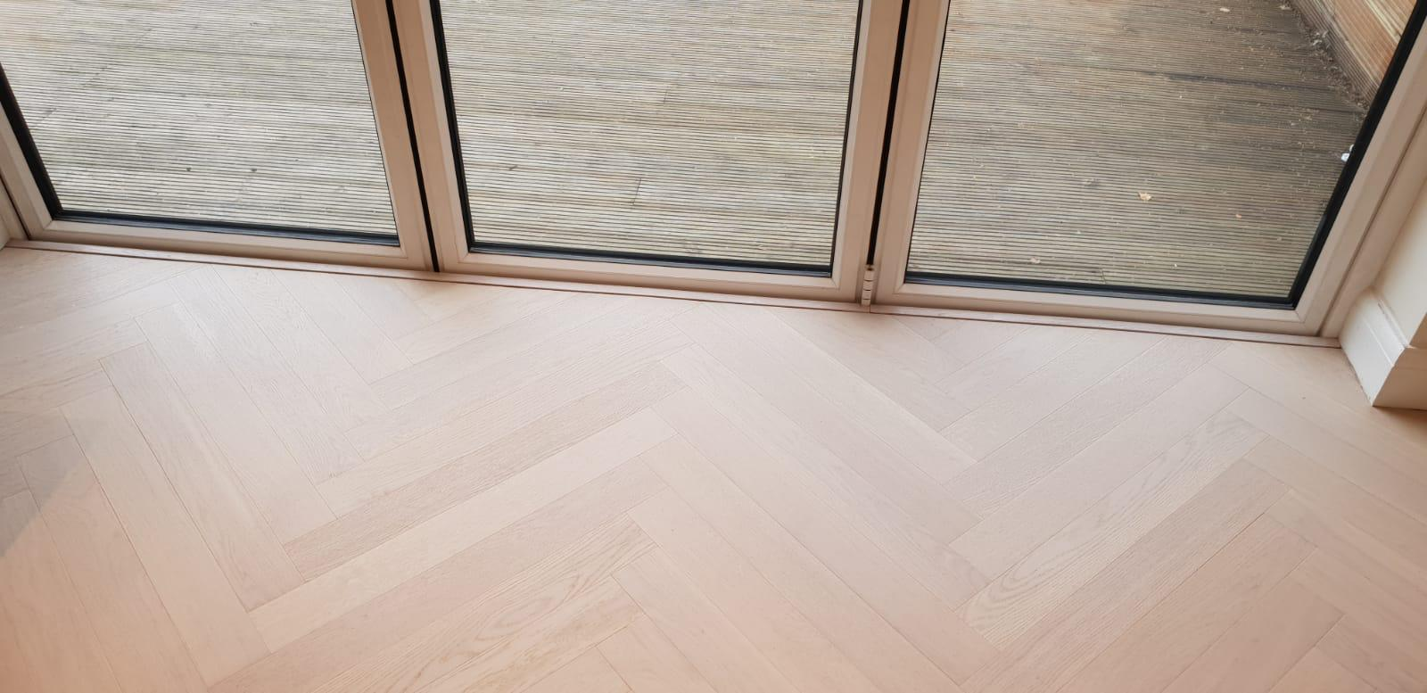 Prime Engineered Flooring Oak Herringbone Double White