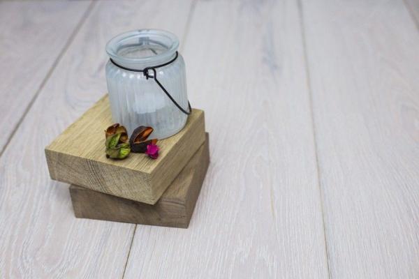 Snow White Wood Flooring Brightens Up Any Interior